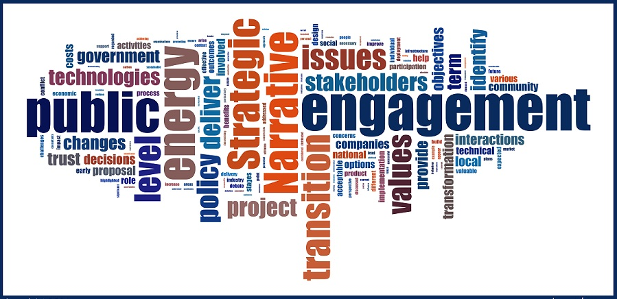 Engaging the Public in the Transformation of the Energy System, strategic narrative tagxedo.com