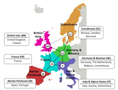 EU model map